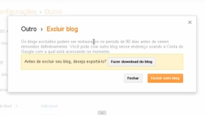 Como Excluir Blog no Blogger